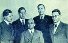 Keres, Smyslov, Reshevsky, Euwe, Botvinnik at the time of match-tournament 1948.